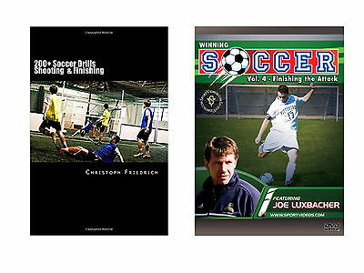 Football 200+ Soccer Shooting & Finishing Drills Book and Winning Soccer DVDs