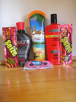 6 Piece Assorted Hot TINGLE Indoor Tanning Lotion Lot New $169 Retail