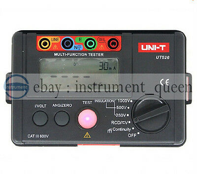 UNI-T UT526 Electrical Insulation Tester 1000V 500MΩ RCD Test Continuity VAC/DC