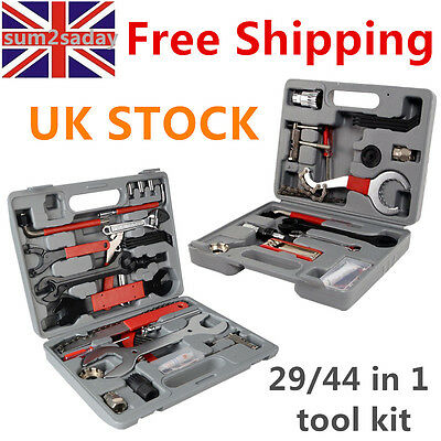 29/44pcs Mountain Bike Bicycle Cycle Maintenance Repair Tool Kit Set Box Case SA