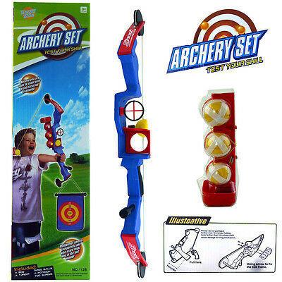 Kid Archery Target Play Set & Kit Indoor Outdoor Sport Game Ball Bow & Arrow Toy