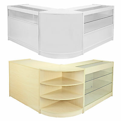 Shop Counter Set Retail Display Counters Glass Showcase POS Storage Shelves