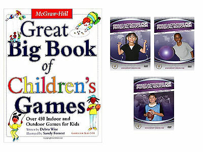 Big Book of Children's Games and Activities for Physical Education and DVD Set