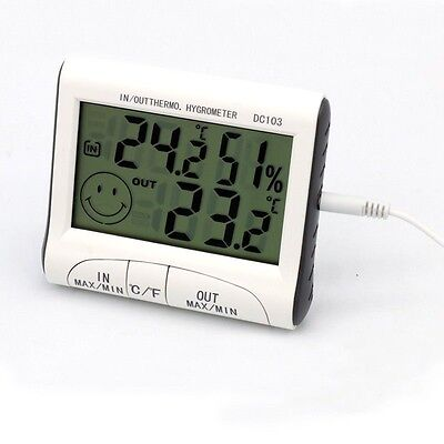Digital LCD Thermometer Indoor Outdoor Temperature Meter Home Hygrometer