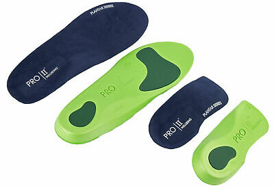 Pro11 Wellbeing X1 Pair Of Orthotic Full Length And X1 Pair 3/4 Slim Fit Insoles