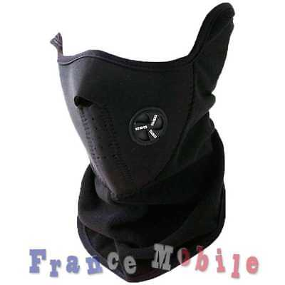 Cagoule Masque Tour de Cou Neoprene + Polaire - Airsoft Paintball Moto Ski Snow