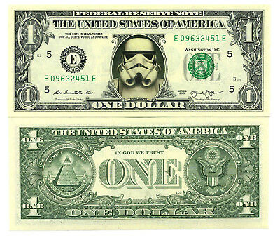STAR WARS / STORMTROOPER VRAI BILLET 1 DOLLAR US ! Collection Empire Collector 2