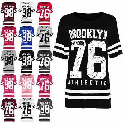 Kids Varsity Basketball Cap Sleeve Top Girls Brooklyn 76 New York 98 T Shirt