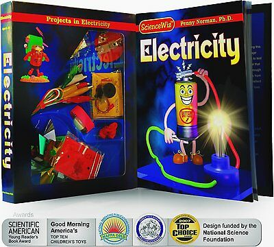 Sciencewiz Electricity 18 Projects Kids Educational Science Book & Activity Kit