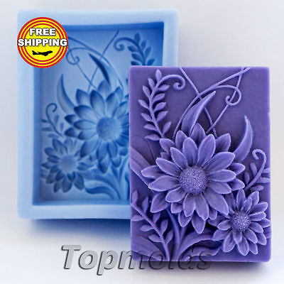 Flower Food-grade silicone soap Mold Silicone Mold Free Shipping