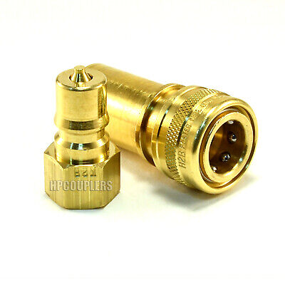 "Carpet Cleaning - 1/4"" Brass Quick Disconnect QD Hose Wand Truckmount extractor"