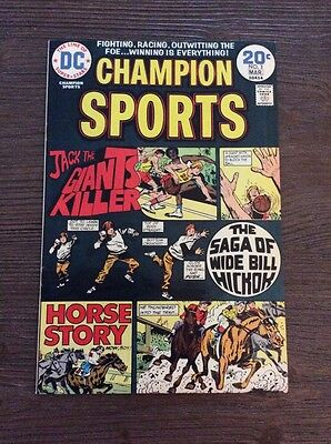 Champion Sports #3 fine 1973 DC series.