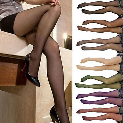New Fashion Women transparent Tights Pantyhose Color Stockings BGO