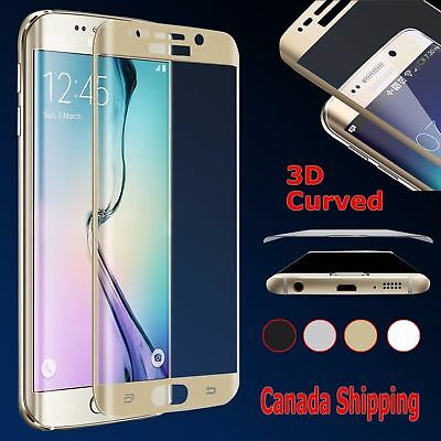 Full Cover Tempered Glass Curved Screen Protector Samsung Galaxy S6 S7 Edge Plus