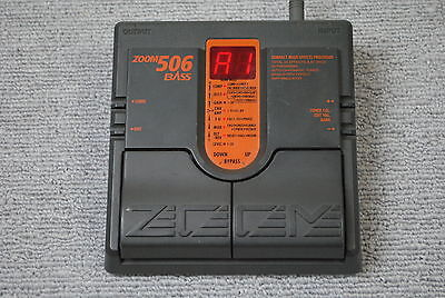 ZOOM 506 Bass Multi Effects Processor Guitar Effect Pedal made in Japan