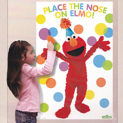 Sesame Street Elmo pin the nose Birthday Party Game Supplies Favor Decoration