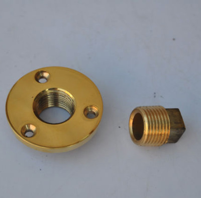 Brass Garboard Drain Plug with O-Ring Boat / Marine 1/2''