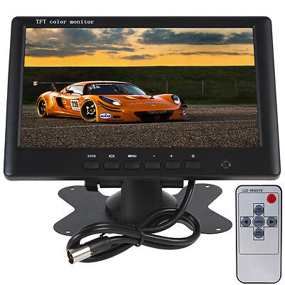 "HD 800 x 480 7"" Inch Color TFT LCD 2 Channels Video Input Car Rear View Monitor"