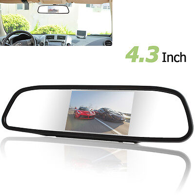 "4.3"" 480 x 272 HD Color TFT-LCD Screen Car Rear View Mirror Monitor with 2 Video"