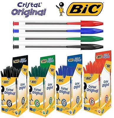 BIC CRISTAL Medium Ball Pens BIC Crystal Biros Black Blue Red Ballpoint Pen