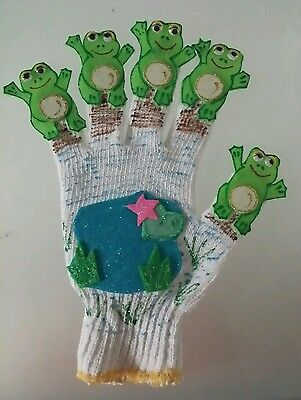 Felt Story/glove Puppet/educational Teacher Resource - 5 Speckled Frogs