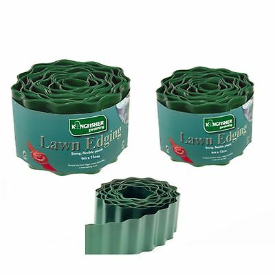Lawn edge grass edging green plastic flexible strong small / large various deals