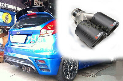 Carbon Fiber AK Style Universal Exhaust Tips Muffler End Pipe