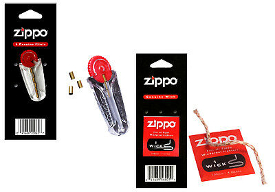 Genuine Zippo Lighter Flints And Wicks Dispenser 6 Blu