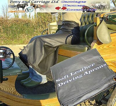 Leather Apron Soft Black Cotton Lined - Carriage Driving - Garden - Work