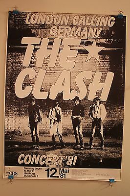 "The Clash ""London Calling"" Germany 1981 Tour Concert Gig Poster LP Promo Rare"