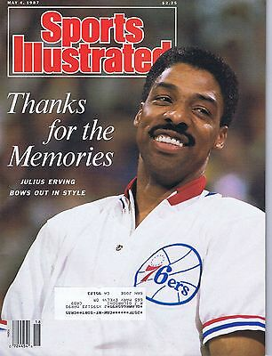 Si  Sports Illustrated Julius Erving Dr. J May 4,1987 Thanks For The Memories