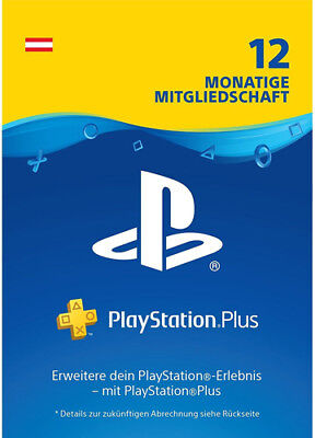PlayStation Plus 365 Tage [AT Store] PSN Key PSP PS4 Live Network Code 12 Monate