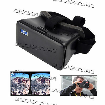 OCCHIALI 3D CARDBOARD GLASSES VIRTUAL REALITY VIDEO VR for iPHONE SAMSUNG HTC