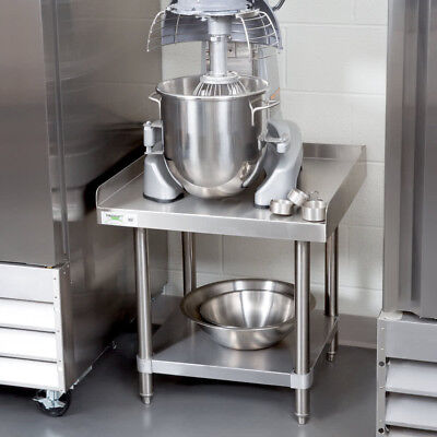 "Regency 16 Gauge 24"" x 24"" All Stainless Steel Equipment Stand With Undershelf"