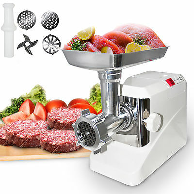 Electric Meat Grinder Kitchen 2000 Watt Butcher Sausage Maker 3 Cutting Blades