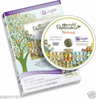 Docrafts Papermania Birdsong Digital Designer CD ROM DVD Vogel Lied Karte machen