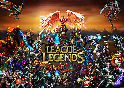 League Of Legends Game Glossy Wall Art Poster Print (A1 - A5 Sizes Available)