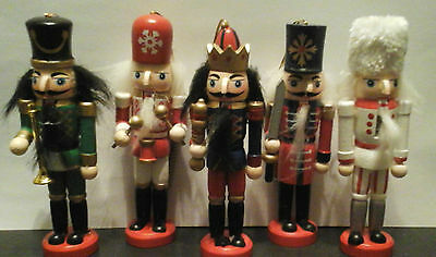 13cm Handpainted Wooden Nutcracker Toy Solider ~ Christmas Tree Decoration