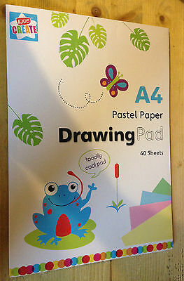 A4 Kids Create Multi colored activity Paper Pad Art Crafts 40 sheets Pastel pad