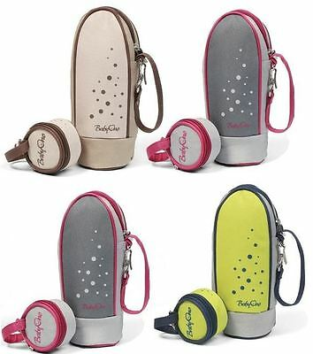 BabyOno Insulated Baby Bottle Bag With FREE Soother Case Travel Warmer Carrier