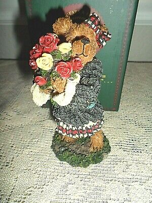 Boyd Bears Bearstone Collection Rosalie Bearheart Roses # 228415 Lot75 117
