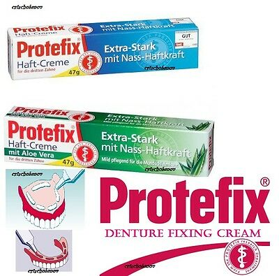 Protefix Adhesive Extra Strong Denture Fixing Cream Aloe Vera Neutral TOP PRICE