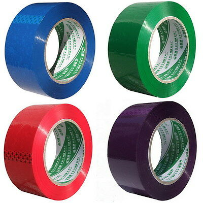 "Carton Sealing Packing Tape decoration DIY purple red green blue Package 2"" x142"