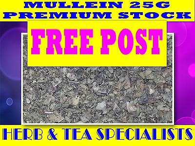 MULLEIN 25G ☆ 100% PREMIUM STOCK Verbascum thapsis ☆ DRIED HERB ☆ SAVE FREE POST