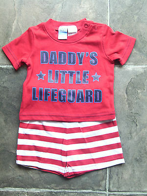 BNWT Baby Boy's Red, White & Blue Summer Pyjamas Size 000