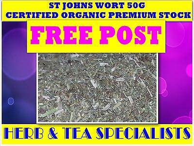 ST JOHNS WORT 50G TEA☆100% CERTIFIED ORGANIC - Hypericum perforatum☆free post