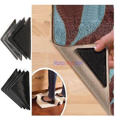 4 X Non Slip Ruggies Gripper Stick Hold Grips Rug Mat Laminate Tile Lino Floor