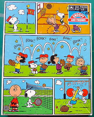 VINTAGE Jigsaw PUZZLE * SNOOPY AND FRIENDS 200 pcs * PEANUTS 1971 Golden 4732-1