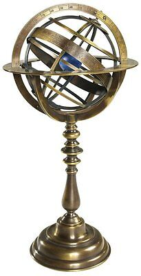"""Antiqued Armillary Bronze 14.5"""" Globe Sphere Zodiac Signs by Authentic Models"""