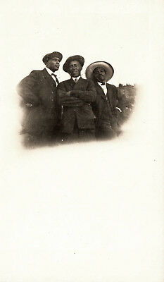 Antique African American Photo Handsome Men Family Group Old Black Americana